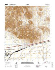 Yermo California Current topographic map, 1:24000 scale, 7.5 X 7.5 Minute, Year 2015