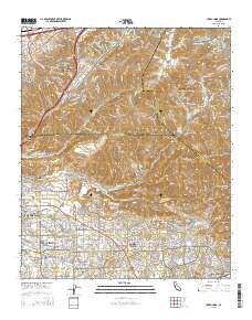 Yorba Linda California Current topographic map, 1:24000 scale, 7.5 X 7.5 Minute, Year 2015