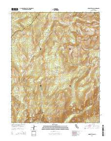 Yosemite Falls California Current topographic map, 1:24000 scale, 7.5 X 7.5 Minute, Year 2015