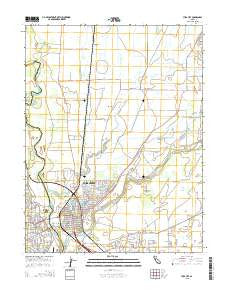 Yuba City California Current topographic map, 1:24000 scale, 7.5 X 7.5 Minute, Year 2015