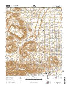 Yucca Valley North California Current topographic map, 1:24000 scale, 7.5 X 7.5 Minute, Year 2015