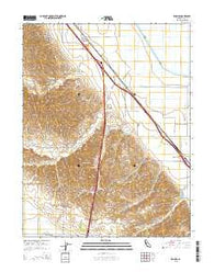Zamora California Current topographic map, 1:24000 scale, 7.5 X 7.5 Minute, Year 2015