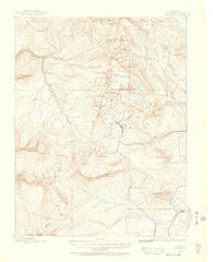 Anthracite Colorado Historical topographic map, 1:62500 scale, 15 X 15 Minute, Year 1888