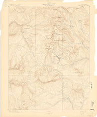 Anthracite Colorado Historical topographic map, 1:62500 scale, 15 X 15 Minute, Year 1889