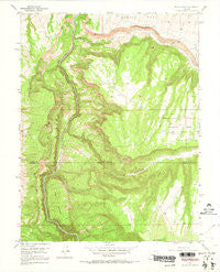 Black Ridge Colorado Historical topographic map, 1:24000 scale, 7.5 X 7.5 Minute, Year 1955