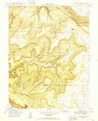 Bull Canyon Colorado Historical topographic map, 1:24000 scale, 7.5 X 7.5 Minute, Year 1949