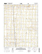 Campo NE Colorado Current topographic map, 1:24000 scale, 7.5 X 7.5 Minute, Year 2016 from Colorado Map Store