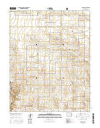 Campo SW Colorado Current topographic map, 1:24000 scale, 7.5 X 7.5 Minute, Year 2016 from Colorado Map Store