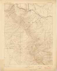 Canon City Colorado Historical topographic map, 1:125000 scale, 30 X 30 Minute, Year 1889