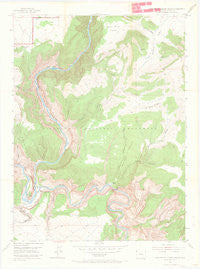 Canyon of Lodore South Colorado Historical topographic map, 1:24000 scale, 7.5 X 7.5 Minute, Year 1954