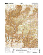 Canyon of Lodore South Colorado Current topographic map, 1:24000 scale, 7.5 X 7.5 Minute, Year 2016 from Colorado Map Store