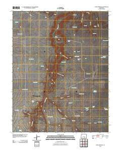 Capps Springs Colorado Historical topographic map, 1:24000 scale, 7.5 X 7.5 Minute, Year 2010
