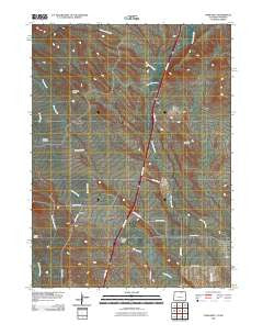 Carr West Colorado Historical topographic map, 1:24000 scale, 7.5 X 7.5 Minute, Year 2010