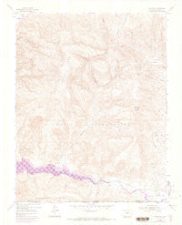 Carracas Colorado Historical topographic map, 1:24000 scale, 7.5 X 7.5 Minute, Year 1954