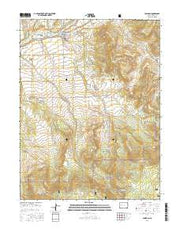 Collbran Colorado Current topographic map, 1:24000 scale, 7.5 X 7.5 Minute, Year 2016 from Colorado Maps Store