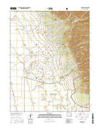 Crestone Colorado Current topographic map, 1:24000 scale, 7.5 X 7.5 Minute, Year 2016 from Colorado Map Store