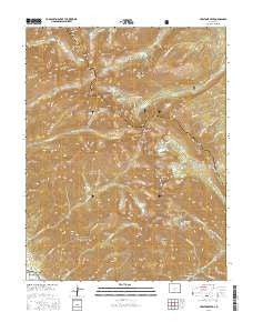 Crestone Peak Colorado Current topographic map, 1:24000 scale, 7.5 X 7.5 Minute, Year 2016
