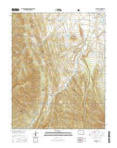 Cuchara Colorado Current topographic map, 1:24000 scale, 7.5 X 7.5 Minute, Year 2016