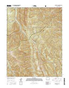 Cucharas Pass Colorado Current topographic map, 1:24000 scale, 7.5 X 7.5 Minute, Year 2016