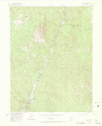 Deckers Colorado Historical topographic map, 1:24000 scale, 7.5 X 7.5 Minute, Year 1954