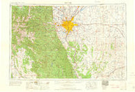 Denver Colorado Historical topographic map, 1:250000 scale, 1 X 2 Degree, Year 1960