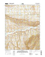 Divide Creek Colorado Current topographic map, 1:24000 scale, 7.5 X 7.5 Minute, Year 2016 from Colorado Map Store