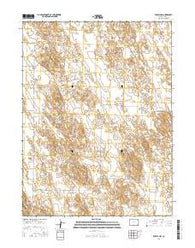 Eckley NW Colorado Current topographic map, 1:24000 scale, 7.5 X 7.5 Minute, Year 2016