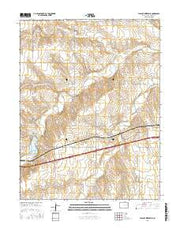 Flagler Reservoir Colorado Current topographic map, 1:24000 scale, 7.5 X 7.5 Minute, Year 2016 from Colorado Maps Store