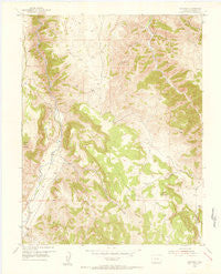 Gateview Colorado Historical topographic map, 1:24000 scale, 7.5 X 7.5 Minute, Year 1954