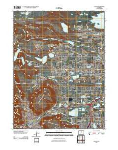 Golden Colorado Historical topographic map, 1:24000 scale, 7.5 X 7.5 Minute, Year 2010