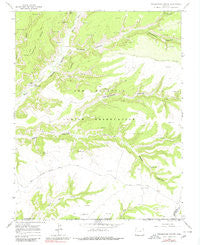 Greasewood Canyon Colorado Historical topographic map, 1:24000 scale, 7.5 X 7.5 Minute, Year 1966