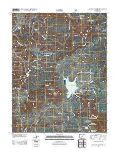 Groundhog Reservoir Colorado Historical topographic map, 1:24000 scale, 7.5 X 7.5 Minute, Year 2011
