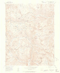 Handies Peak Colorado Historical topographic map, 1:24000 scale, 7.5 X 7.5 Minute, Year 1955