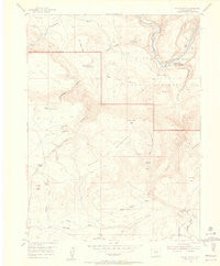 Hells Canyon Colorado Historical topographic map, 1:24000 scale, 7.5 X 7.5 Minute, Year 1954