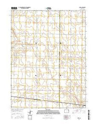 Hyde Colorado Current topographic map, 1:24000 scale, 7.5 X 7.5 Minute, Year 2016