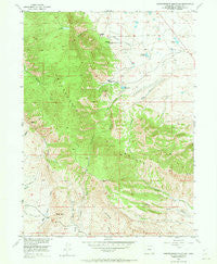 Independence Mountain Colorado Historical topographic map, 1:24000 scale, 7.5 X 7.5 Minute, Year 1955