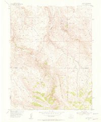 Iris NW Colorado Historical topographic map, 1:24000 scale, 7.5 X 7.5 Minute, Year 1954