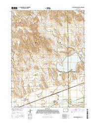 Julesburg Reservoir Colorado Current topographic map, 1:24000 scale, 7.5 X 7.5 Minute, Year 2016