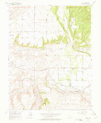 Lazear Colorado Historical topographic map, 1:24000 scale, 7.5 X 7.5 Minute, Year 1955
