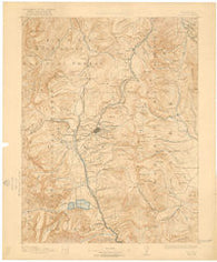 Leadville Colorado Historical topographic map, 1:125000 scale, 30 X 30 Minute, Year 1891