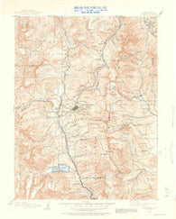 Leadville Colorado Historical topographic map, 1:125000 scale, 30 X 30 Minute, Year 1889