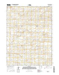 Leroy Colorado Current topographic map, 1:24000 scale, 7.5 X 7.5 Minute, Year 2016