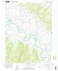 Lodore School Colorado Historical topographic map, 1:24000 scale, 7.5 X 7.5 Minute, Year 1954