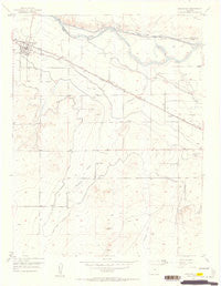 Manzanola Colorado Historical topographic map, 1:24000 scale, 7.5 X 7.5 Minute, Year 1954