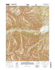 Mount Elbert Colorado Current topographic map, 1:24000 scale, 7.5 X 7.5 Minute, Year 2016 from Colorado Maps Store