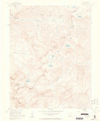 Ophir Colorado Historical topographic map, 1:24000 scale, 7.5 X 7.5 Minute, Year 1955