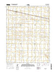 Paoli Colorado Current topographic map, 1:24000 scale, 7.5 X 7.5 Minute, Year 2016