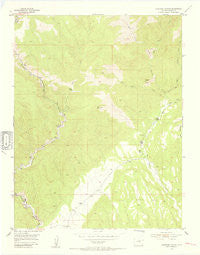 Phantom Canyon Colorado Historical topographic map, 1:24000 scale, 7.5 X 7.5 Minute, Year 1954