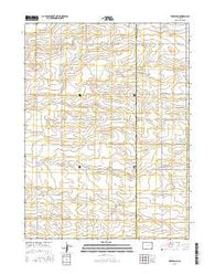 Rockland Colorado Current topographic map, 1:24000 scale, 7.5 X 7.5 Minute, Year 2016