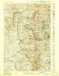 Rocky Mountain National Park Colorado Historical topographic map, 1:125000 scale, 30 X 30 Minute, Year 1919